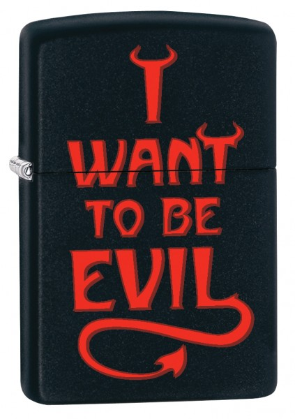 ZIPPO PL I WANT TO BE EVIL