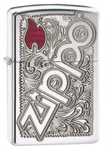 ZIPPO STYLE LOGO DEEP CARVED