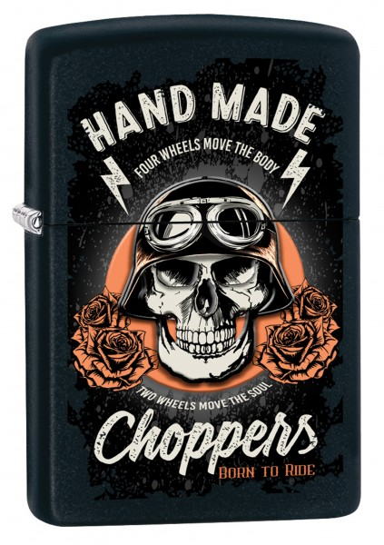 ZIPPO ON THE ROAD BIKER SKULL